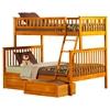 Woodland Twin over Full Bunk Bed - 2 Raised Panel Bed Drawers - ATL-AB5622