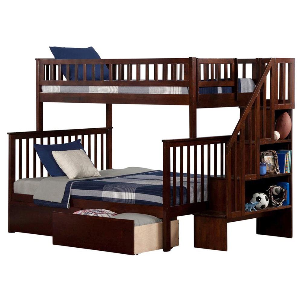 Woodland Twin Over Full Bunk Bed Staircase 2 Urban Bed
