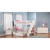 Woodland Twin over Full Bunk Bed - Staircase, 2 Urban Bed Drawers - ATL-AB5674