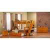 Woodland Twin over Full Bunk Bed - Staircase, Urban Trundle Bed - ATL-AB5675