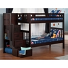 Cascade Twin over Twin Bunk Bed - Espresso, Staircase - ATL-AB63601