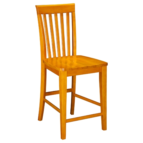 Mission Pub Chairs Slat Back Set Of 2 Dcg Stores