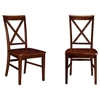 Lexi Dining Chair - Wood Seat, X-Back (Set of 2) - ATL-AD77214