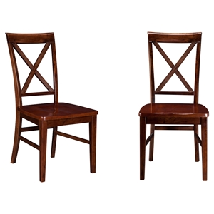 Lexi Dining Chair - Wood Seat, X-Back (Set of 2)