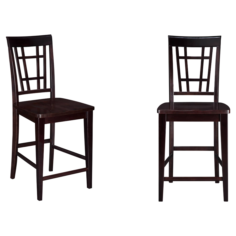 Montego Bay Pub Chair Wood Set Of 2 Dcg Stores