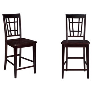 Montego Bay Pub Chair - Wood (Set of 2)