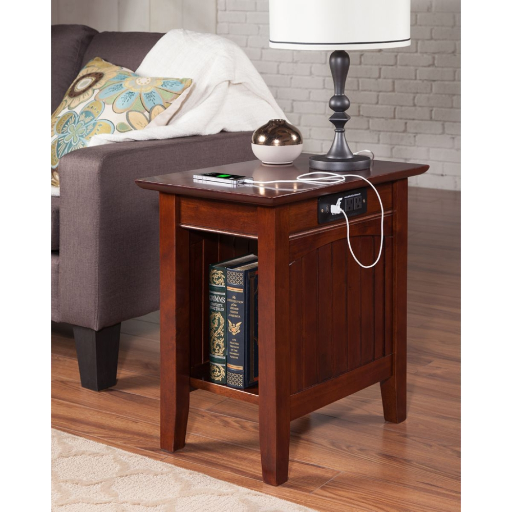 Nantucket Chair Side Table Rectangular Charging Station
