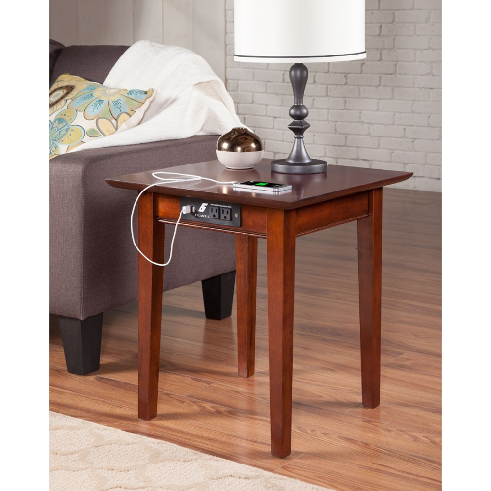 Shaker End Table Square Charging Station Dcg Stores