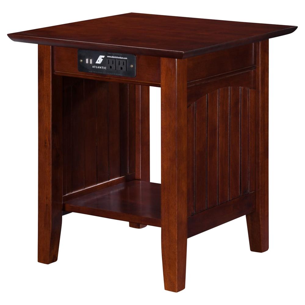 Nantucket End Table Rectangular 1 Shelf Charging