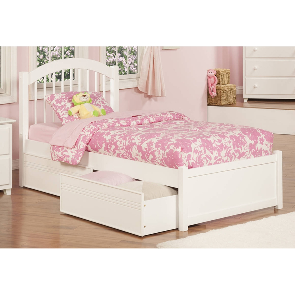 Windsor Twin Xl Platform Bed 2 Flat Panel Drawers Flat Panel Foodboard Dcg Stores