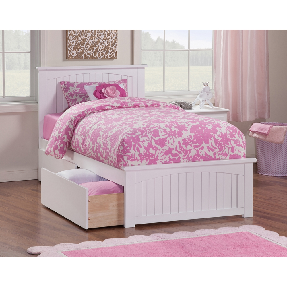 Nantucket Wood Bed Matching Foot Board 2 Drawers Dcg
