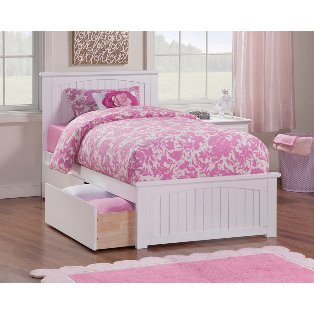 Details About White 3 Piece Storage Drawers Twin Bed Box: Nantucket Twin XL Wood Bed