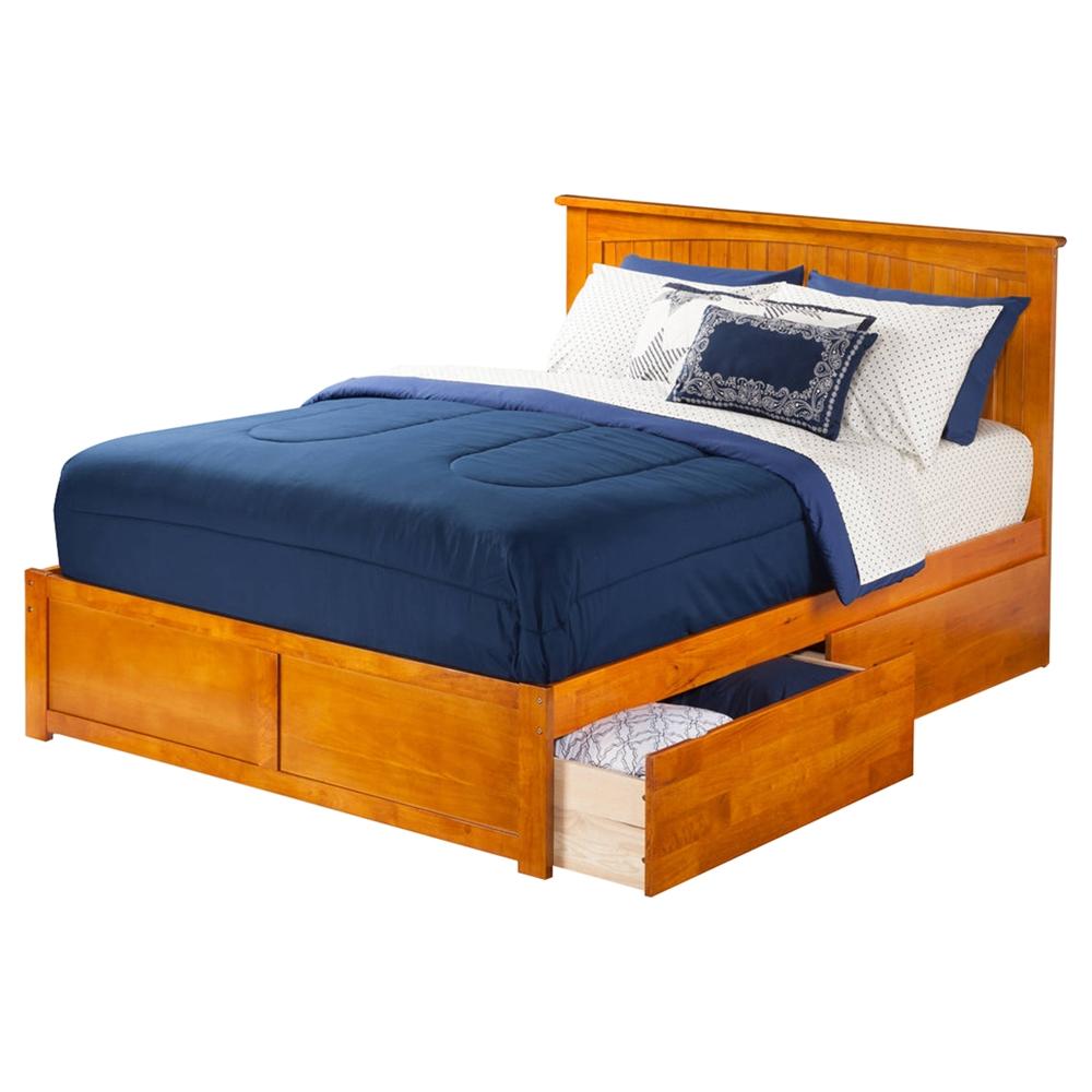 Nantucket King Flat Panel Foot Board Bed 2 Drawers