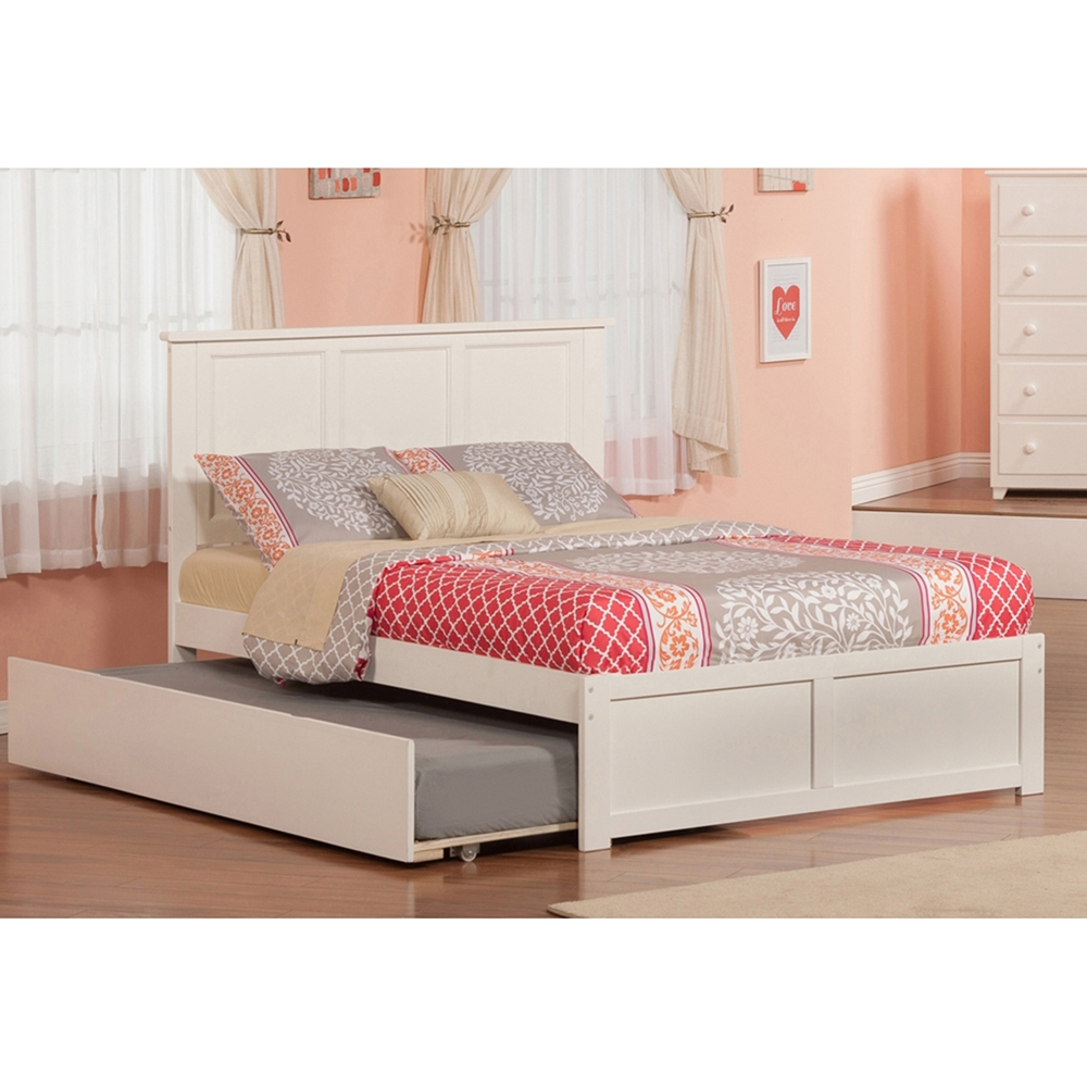 Details About White 3 Piece Storage Drawers Twin Bed Box: Madison Flat Panel Foot Board Bed