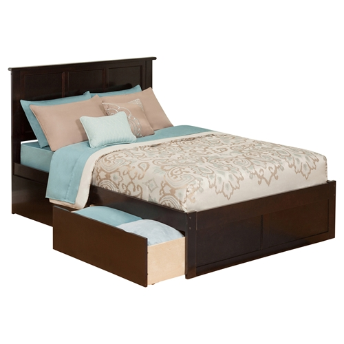 Madison Flat Panel Foot Board Bed 2 Drawers Platform Dcg Stores