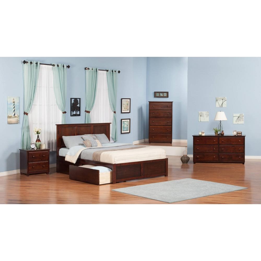 Madison King Flat Panel Foot Board Bed 2 Drawers Platform Dcg Stores