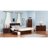 Portland King Flat Panel Foot Board Bed - 2 Drawers, Platform - ATL-AR895211