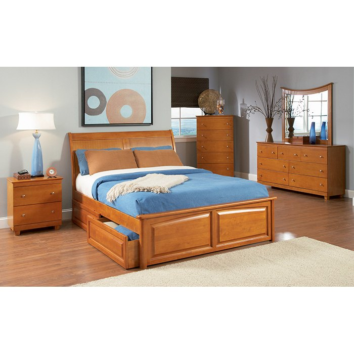 Bedroom Interior Design For Kids Bedroom Settee Bench Bedroom Room Colors Video Game Bedroom Decor: Bordeaux Sleigh Bed W/ Raised Panel Footboard And Drawers