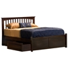 Brooklyn Bed w/ Flat Panel Footboard and Raised Panel Drawers - ATL-BBFPFRPD