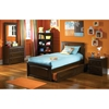 Brooklyn Twin Platform Bed w/ Raised Panel Footboard - ATL-BTWPBRP