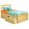 Brooklyn Twin Bed w/ Raised Panel Footboard and Flat Panel Drawers - ATL-BTWBRPFD