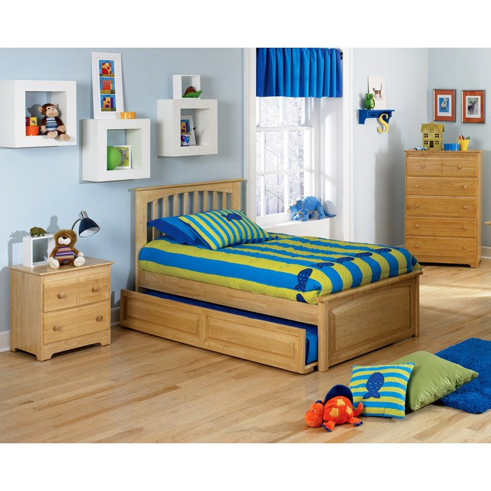 Brooklyn Twin Bed w/ Raised Panel Footboard and Trundle - ATL-BTBRPFTR