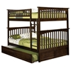Columbia Full Over Full Slat Bunk Bed w/ Trundle - ATL-AB5553