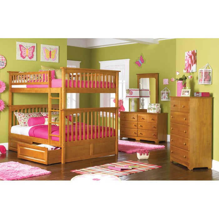 Bedroom Interior Design For Kids Bedroom Settee Bench Bedroom Room Colors Video Game Bedroom Decor: Columbia Full Slat Bunk Bed W/ Raised Panel Drawers