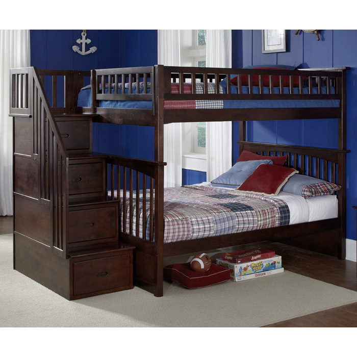 Columbia Full/Full Bunk Bed w/ Storage Stairs - ATL-AB5580