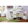 Columbia White Slatted Bunk Bedroom Set W Storage Stairs