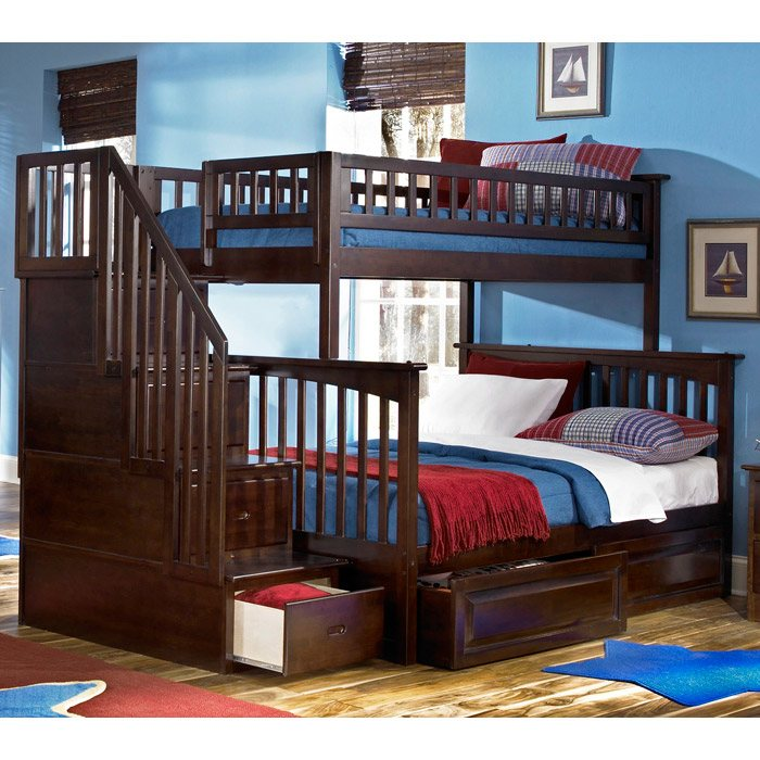 Lovely Bunk Bedroom Sets Part   1: ... Columbia Staircase Bunk Bed W