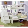 Columbia Twin Over Full Bunk Bed w/ Storage Stairs - ATL-AB5570