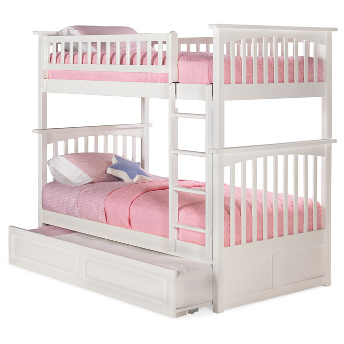 Columbia Twin Over Twin Bunk Bed w/ Trundle - ATL-AB5513