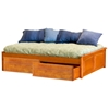 Concord Platform Bed w/ Raised Panel Footboard and Flat Panel Drawers - ATL-CPBRPFFPD