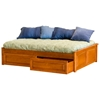 Concord Platform Bed w/ Raised Panel Footboard and Drawers - ATL-CPBRPFRPD