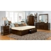 Concord Platform Bed w/ Flat Panel Footboard and Drawers - ATL-CPBFPFPD