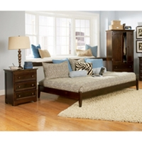 Concord Cottage Style Bedroom Set w/ Open Footrail Platform Bed