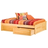 Concord Platform Bed w/ Raised Panels and Drawers - ATL-CPB2RPRPD