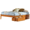 Concord Platform Bed w/ Open Footrail and Flat Panel Drawers - ATL-CPBOFFPD