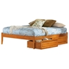 Concord Platform Bed w/ Open Footrail and Raised Panel Drawers - ATL-CPBOFRPD