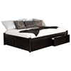 Concord Platform Bed w/ Flat Panel Footboard and Flat Panel Drawers in Espresso - ATL-CPBFPFPDES