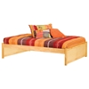 Concord Platform Bed w/ 2 Flat Panel Footboards - ATL-CPB2FP