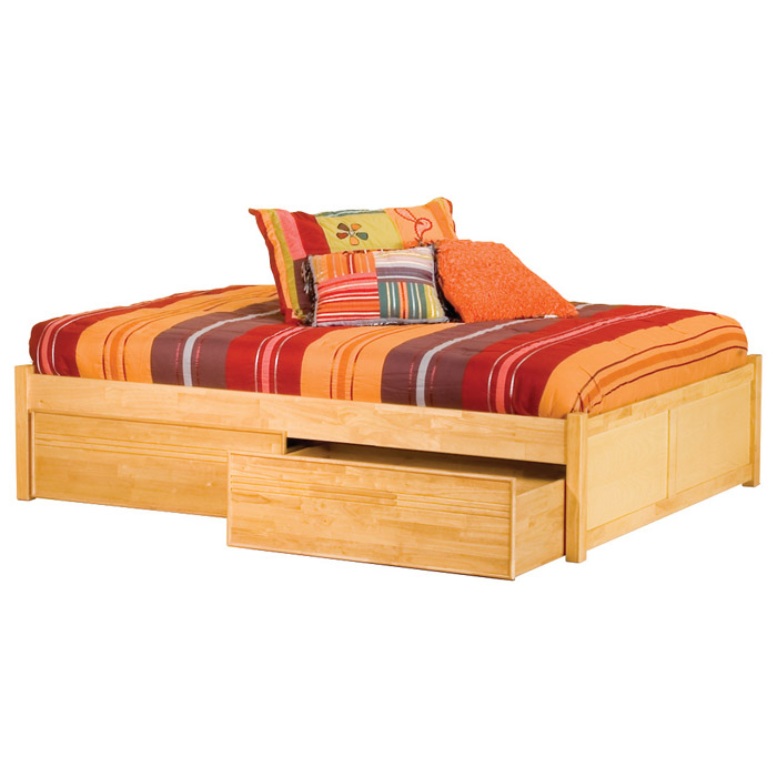 Platform Beds W Drawers : Concord platform bed w flat panel footboard and drawers
