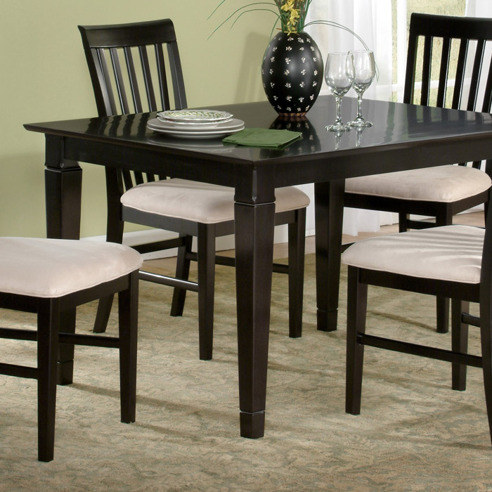 Deco X Solid Top Dining Table W Tapered Legs DCG Stores - 36 x 48 dining table with leaf