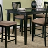 Deco 5 Piece Pub Set w/ 48 x 36 Table and Slat Back Chairs - ATL-DE48X36SPT5PC