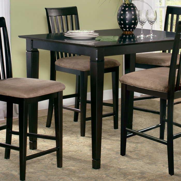 deco 5 piece pub set w 48 x 36 table and slat back chairs