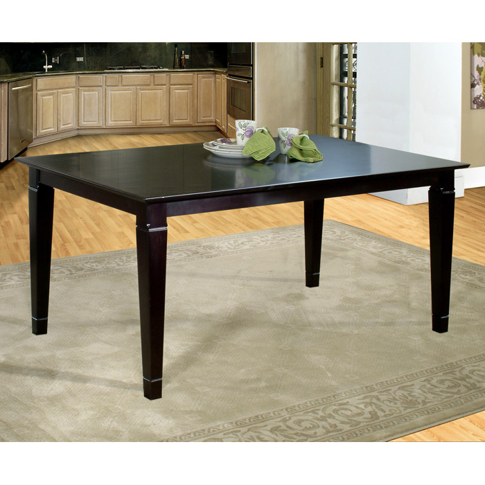 36 Dining Table Set: Deco 60 X 36 Solid Top Dining Table W/ Tapered Legs