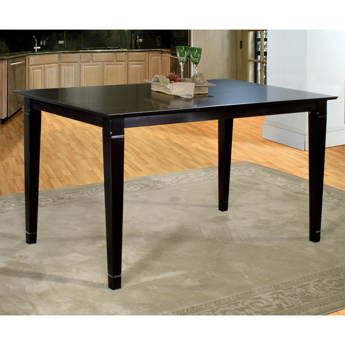 Deco 60 x 36 Solid Top Pub Table w/ Tapered Legs - ATL-DE60X36SPT