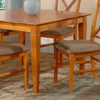 Deco 39 x 39 Solid Top Square Dining Table w/ Tapered Legs
