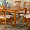Deco Butterfly Extension Dining Table w/ 6 X-Back Chairs - ATL-DE60X42BLDT7PC